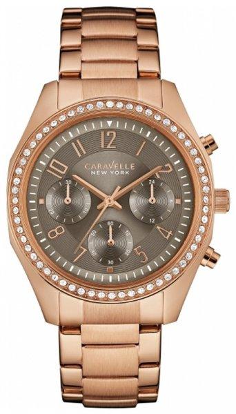 Zegarek damski Caravelle bransoleta 44L195 - duże 1