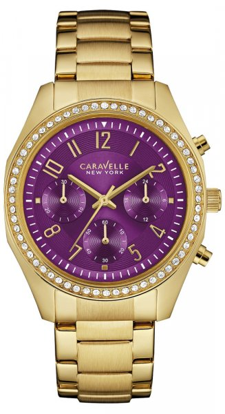 Zegarek damski Caravelle bransoleta 44L197 - duże 1