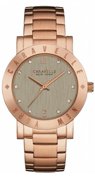 Zegarek damski Caravelle bransoleta 44L203 - duże 1