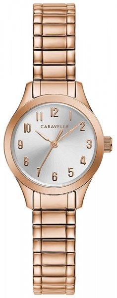 Zegarek damski Caravelle bransoleta 44L254 - duże 1