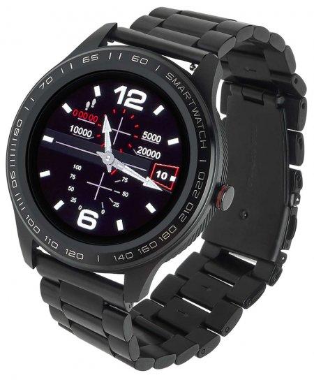 Zegarek Garett Smartwatch Garett Men 3S RT czarny stalowy - męski