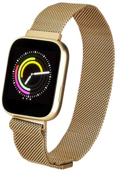 Zegarek Garett Smartwatch Garett Women Eva RT złoty stalowy - damski