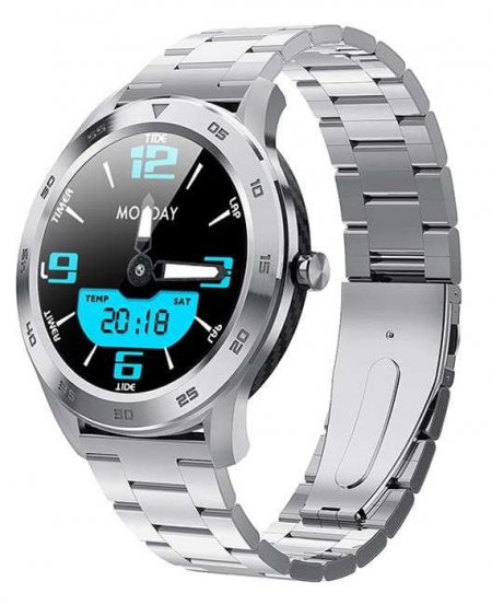 5903246287295 Garett Smartwatch Garett GT22S RT srebrny stalowy - duże 3