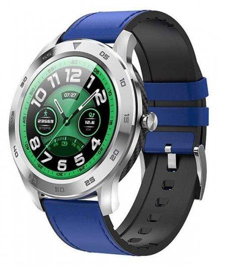 Garett 5903246287301 Męskie Smartwatch Garett GT22S RT niebieski skórzany