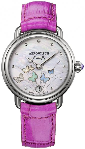 Aerowatch 44960-AA05 Les Grandes Classiques 1942 BUTTERFLY