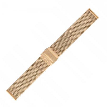 Bransoleta do zegarka Bisset Bransoleta Bisset - różowe złoto połysk - damska - duże 3