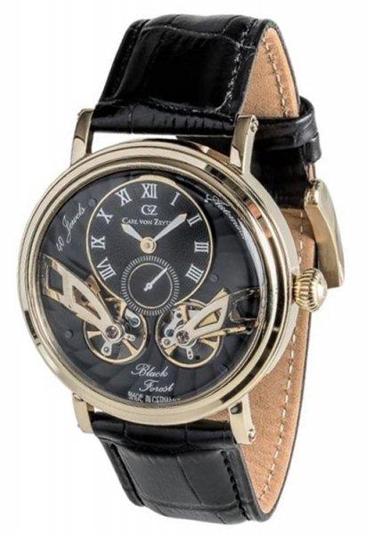 Zegarek męski Carl von Zeyten black forest CVZ0017GBK - duże 1