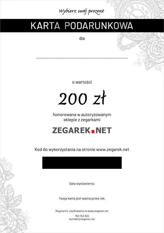 ZEGAREKNET eKarta podarunkowa 200 zł