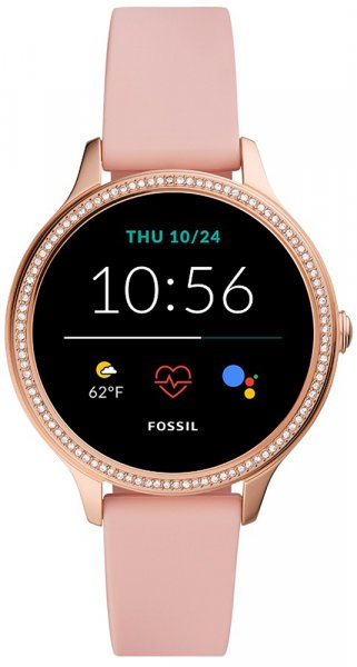 Fossil Smartwatch FTW6066 Fossil Q GEN 5E SMARTWATCH - BLUSH SILICONE