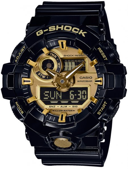 G-Shock GA-710GB-1AER G-SHOCK Style NO COMPLY BLACK AND GOLD