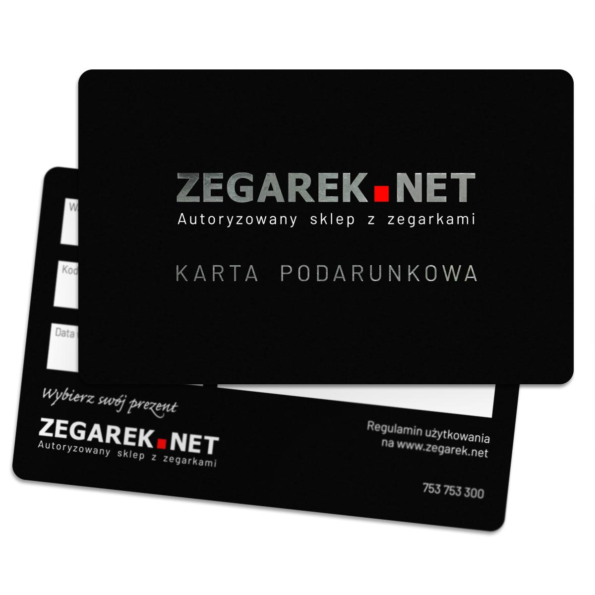 ZEGAREKNET Karta podarunkowa 100 zł