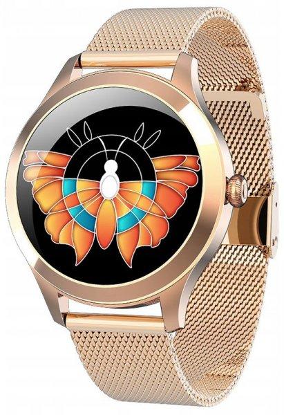 Rubicon SMARUB046 Smartwatch Rubicon RNBE62 PRO różowe złoto
