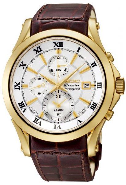 Zegarek męski Seiko premier SNAF22P1 - duże 1