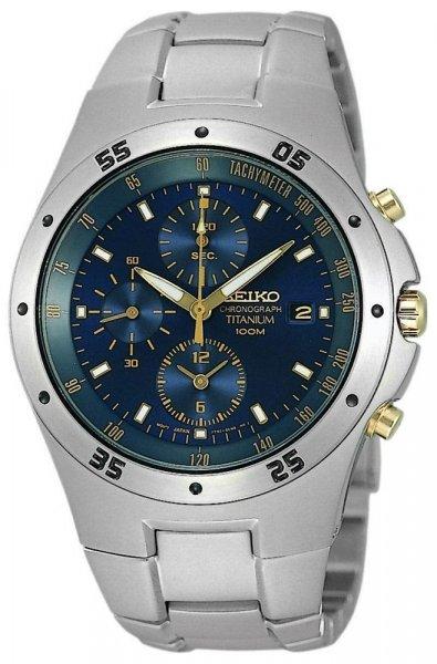 Zegarek męski Seiko chronograph SND449P1 - duże 1