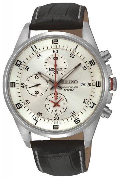 Zegarek męski Seiko chronograph SNDC87P2 - duże 1