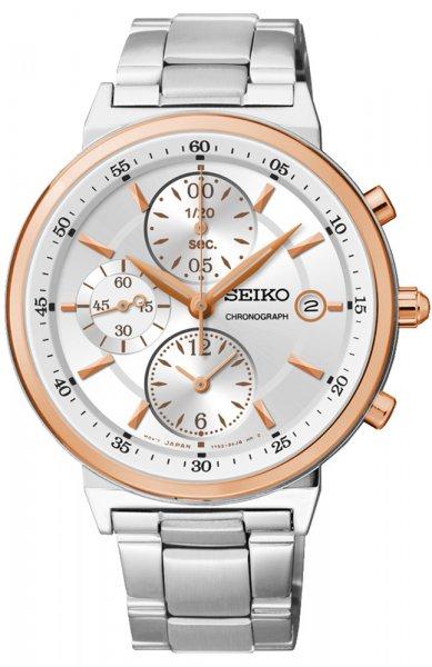 Zegarek damski Seiko chronograph SNDW48P1 - duże 1