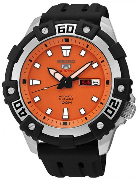 Zegarek męski Seiko sports automat SRP473K1 - duże 1