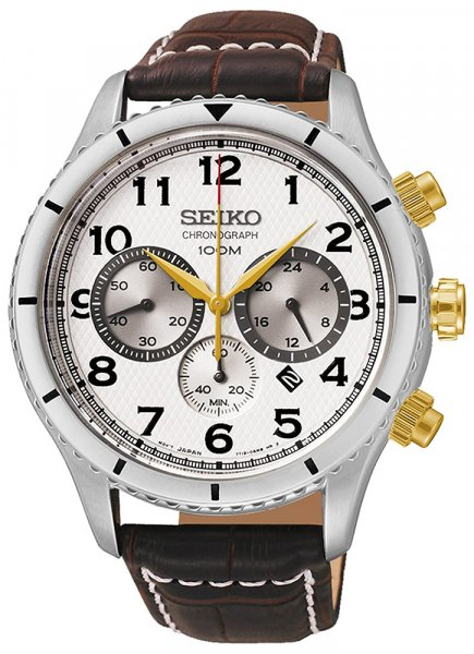 Zegarek męski Seiko chronograph SRW039P1 - duże 1