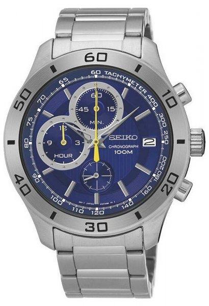 Zegarek męski Seiko chronograph SSB185P1 - duże 1