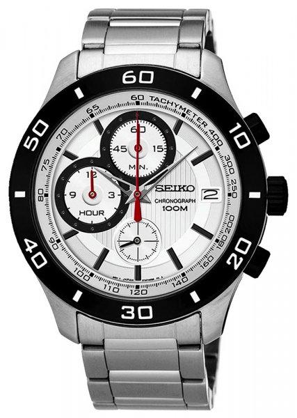 Zegarek męski Seiko chronograph SSB189P1 - duże 1