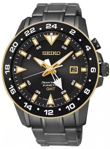 Zegarek męski Seiko kinetic SUN026P1 - duże 1