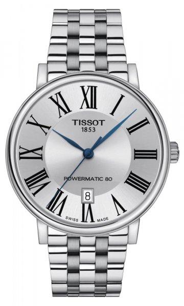 Zegarek męski Tissot carson automatic T122.407.11.033.00 - duże 1