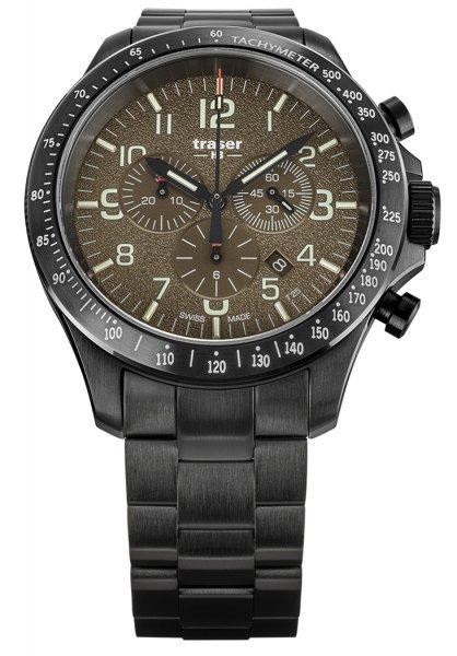 Traser TS-109460 P67 Officer Pro P67 Officer Pro Chronograph Khaki Steel Bracelet
