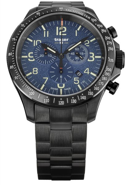 Traser TS-109462 P67 Officer Pro P67 Officer Pro Chronograph Blue Steel Bracelet