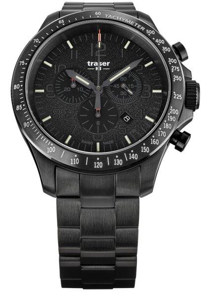 Traser TS-109466 P67 Officer Pro P67 Officer Pro Chronograph Black Steel Bracelet