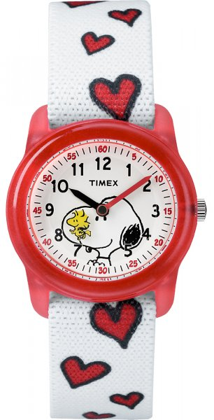 Timex TW2R41600 Dla dzieci Timex Time Teacher x Peanuts Snoopy  Hearts