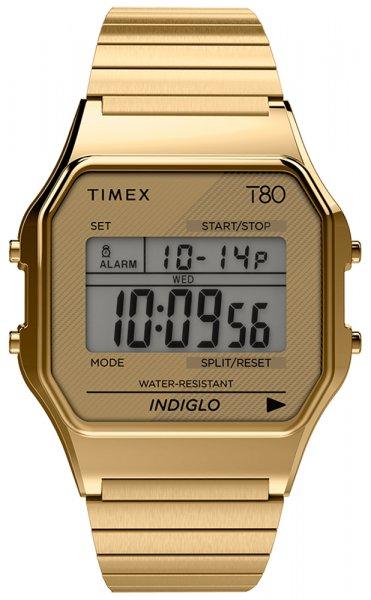 Zegarek damski Timex t80 TW2R79000 - duże 1