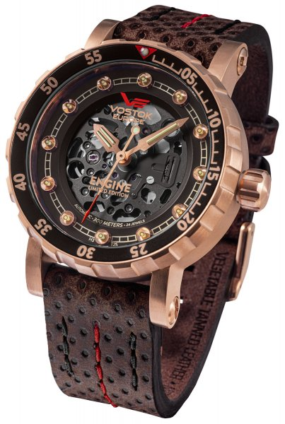 Vostok Europe NH72A-571B648 Engine Engine Skeleton Limited Edition Automatic