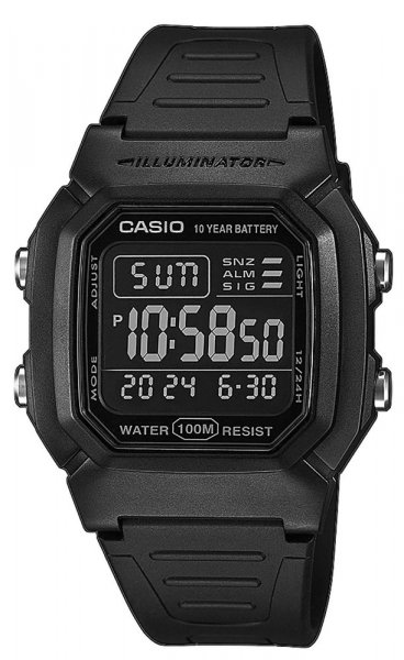 Zegarek Casio W-800H-1BVES - duże 1