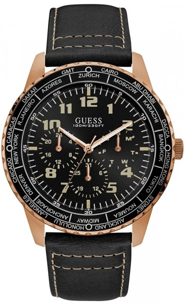 Zegarek męski Guess pasek W1170G2 - duże 1