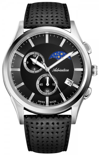 Adriatica A8282.5214CH Pasek Moonphase Chronograph
