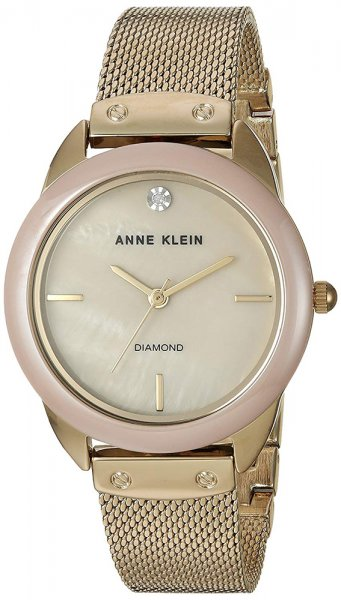 Zegarek damski Anne Klein bransoleta AK-3258TNGB - duże 1