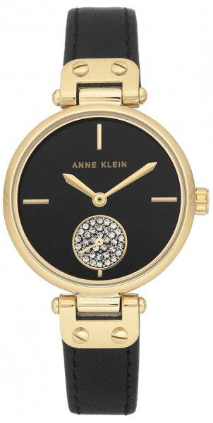 Zegarek damski Anne Klein pasek AK-3380BKBK - duże 3