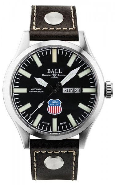 NM1080C-L2-BK - zegarek męski - duże 3