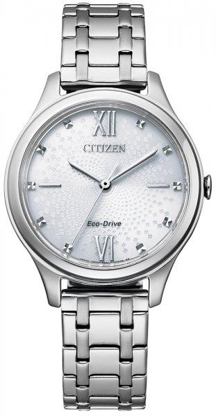 Zegarek damski Citizen ecodrive EM0500-73A - duże 1