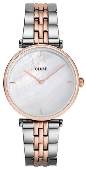 Zegarek Cluse Rose Gold White Pearl - damski