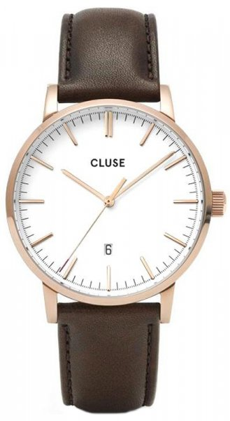 Cluse CW0101501002 Aravis Aravis leather rose gold white/dark brown