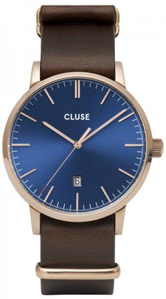 Cluse CW0101501009 Aravis Aravis nato leather rose gold dark blue/dark brown