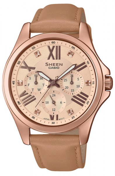 SHE-3806GL-9AUER - zegarek damski - duże 3