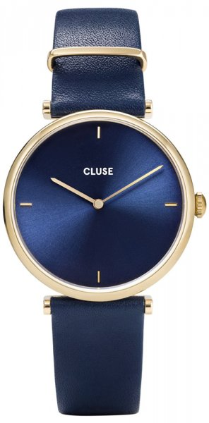 Cluse CW0101208011 Triomphe Triomphe Leather Gold Blue/Blue