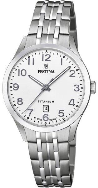 Zegarek Festina Titanium Date - damski
