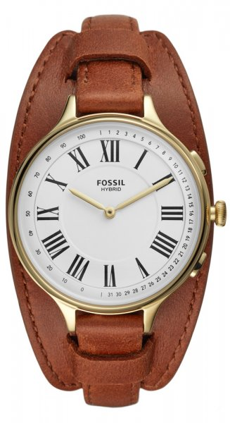 Fossil Smartwatch FTW5076 Fossil Q HYBRID SMARTWATCH ELEANOR LUGGAGE LEATHER