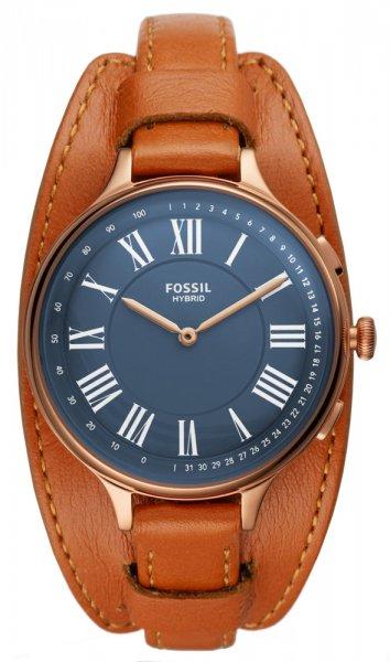 Zegarek Fossil Smartwatch smartwatches HYBRID SMARTWATCH ELEANOR TAN LEATHER - damski  - duże 3