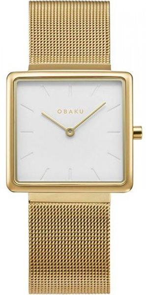 Zegarek damski Obaku Denmark bransoleta V236LXGIMG - duże 3