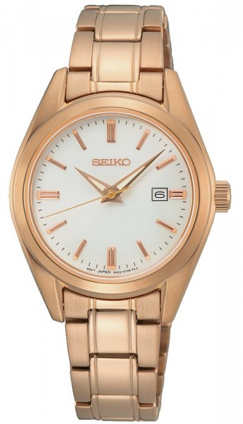 Zegarek damski Seiko classic SUR630P1 - duże 1