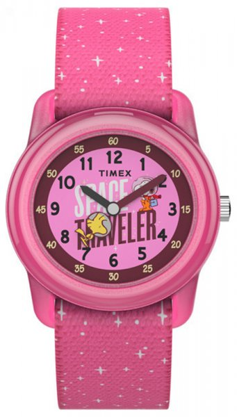 Timex TW7C79000 Dla dzieci Time TeacherTimex x Space Snoopy